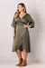 Eleanor Wrap Dress Olive