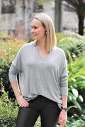 Essential Long Sleeve Top Grey