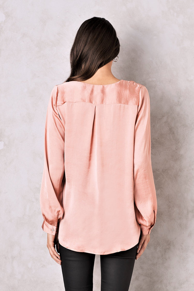 Avignon Long Sleeve Top Rose