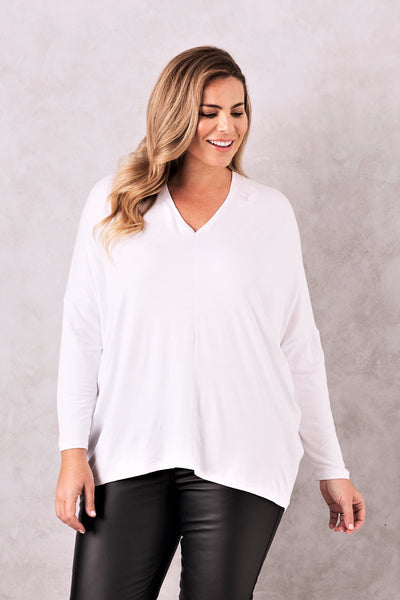 Essential Long Sleeve Top White
