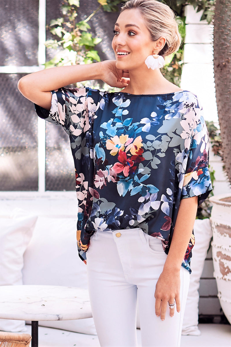 Bianca Short Sleeve Top Mirabeau Print