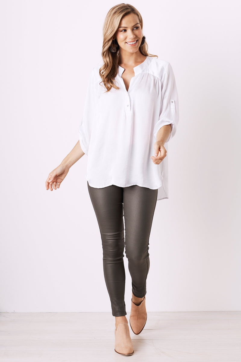 Tuscany Mid Sleeve Top White