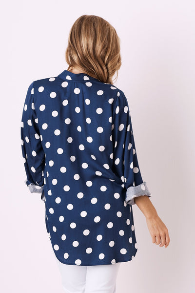 Holly Collared Shirt  Navy