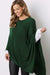 Cashmere and Wool Poncho Forest Green