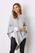 Cashmere and Wool Poncho Light Grey