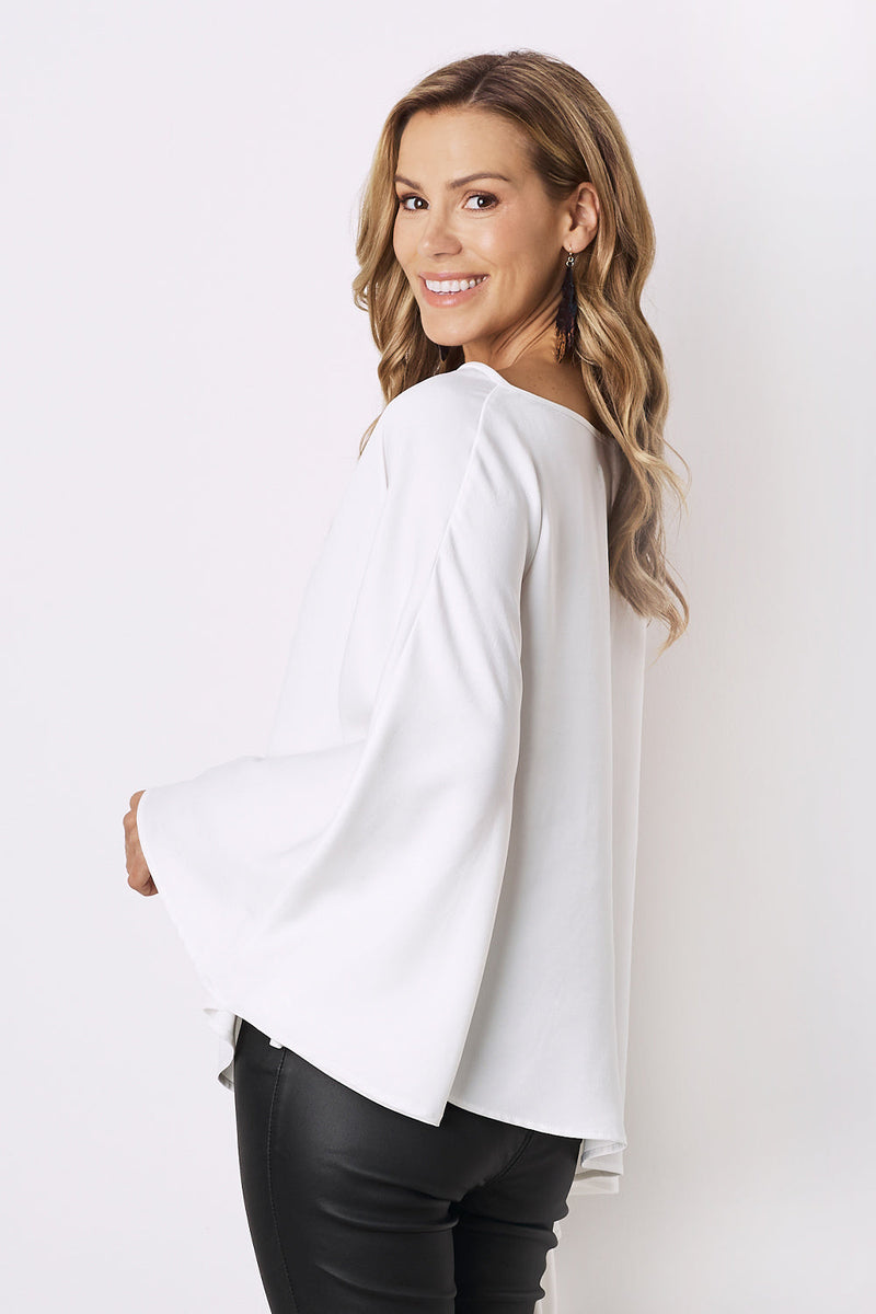 Arielle Top in White-Pre-Order