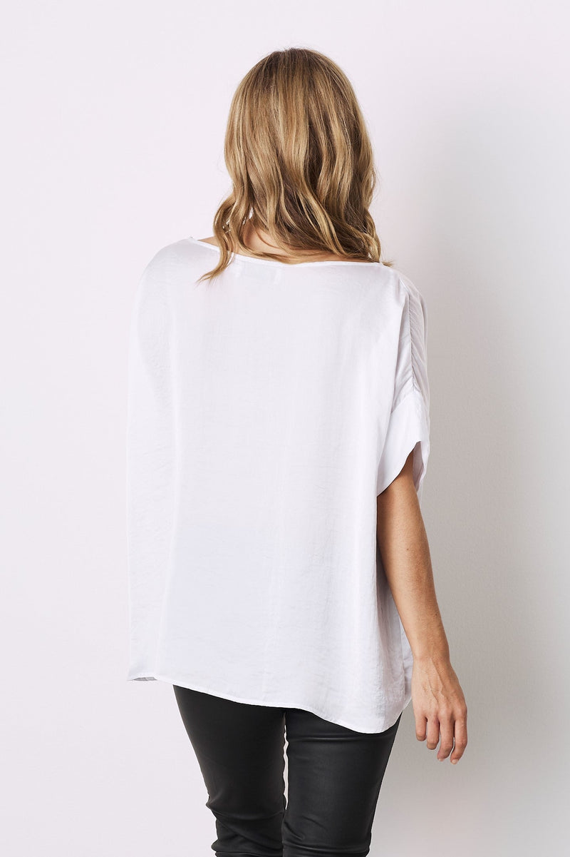 Bianca Short Sleeve Top White