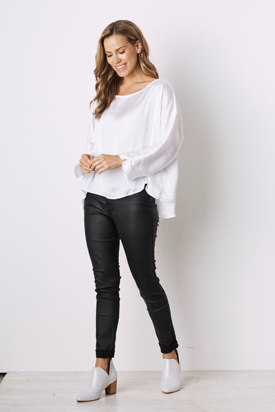 Martina Long Sleeve Top White
