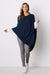 Cashmere and Wool Poncho Navy