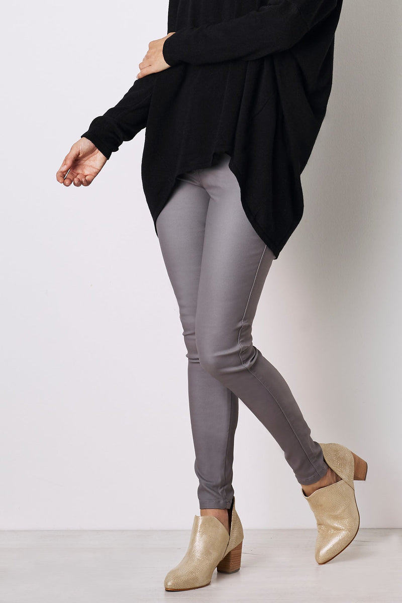 Amber Coated Jeans Grey