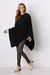 Cashmere and Wool Poncho Black