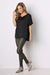 Bianca Top Black with V Neck