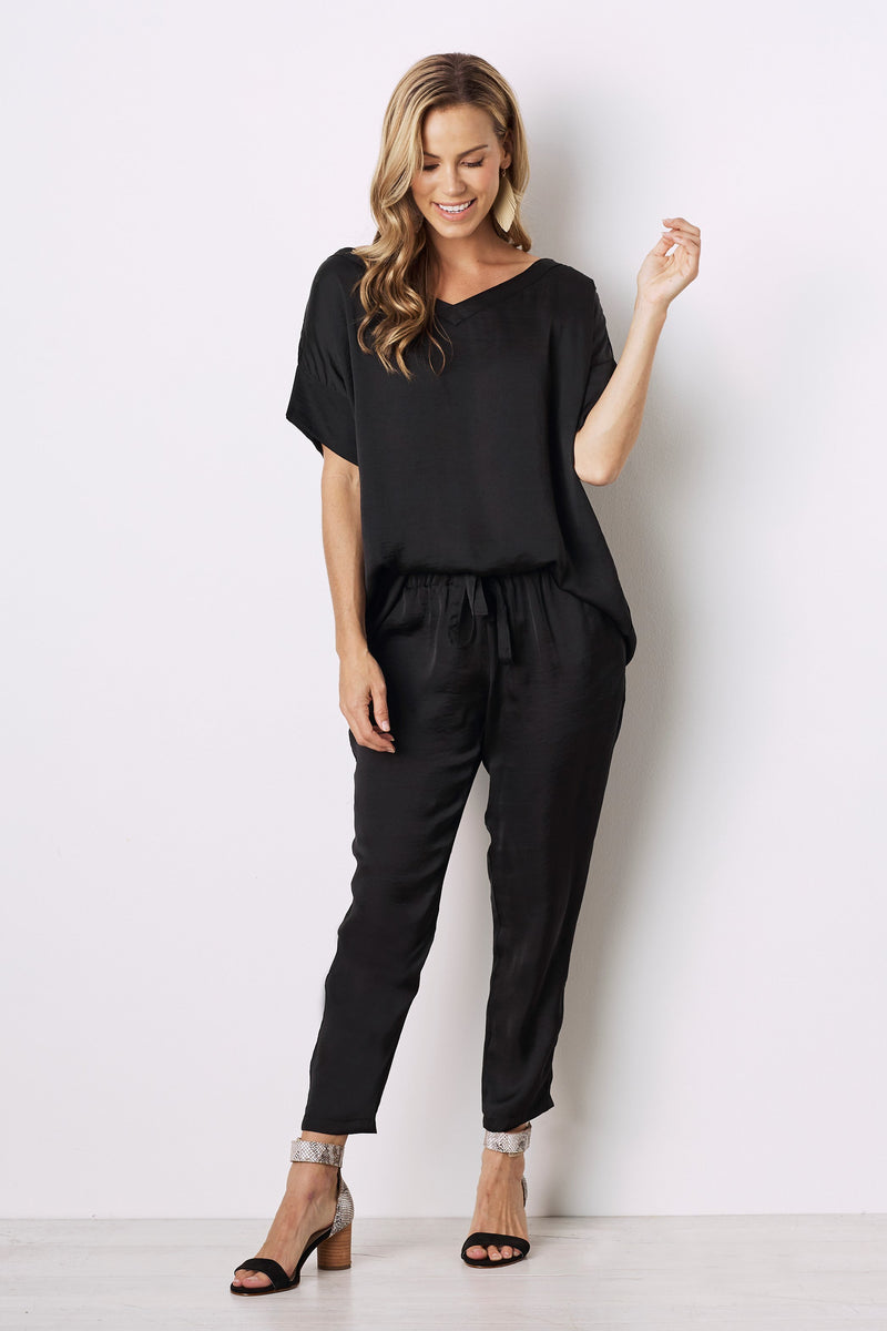 Faux Jumpsuit Black