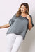 Bianca Top Charcoal with V Neck