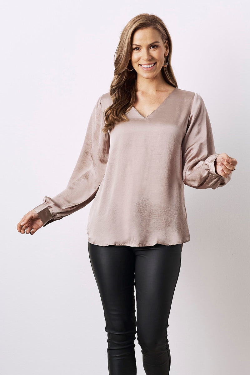 Avignon Long Sleeve Top Almond