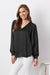 Avignon Long Sleeve Top Black