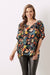 Bianca Short Sleeve Top Bella Print with V Neck