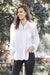 Athena Long Sleeve Collared Shirt White