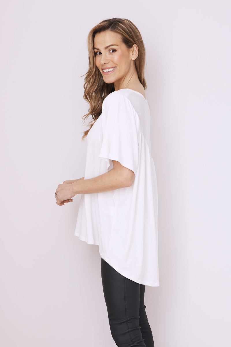 Essential Short Sleeve Top Spring/Summer White