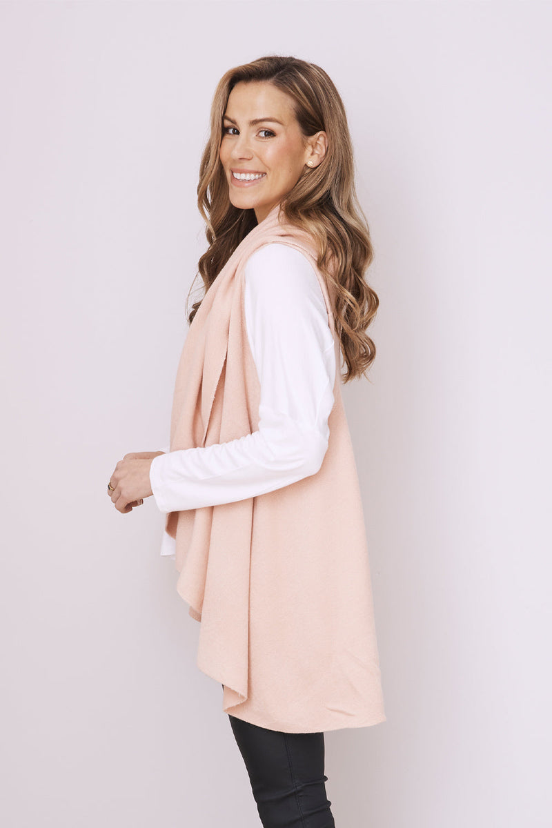 Melanie Sleeveless Cape Blush