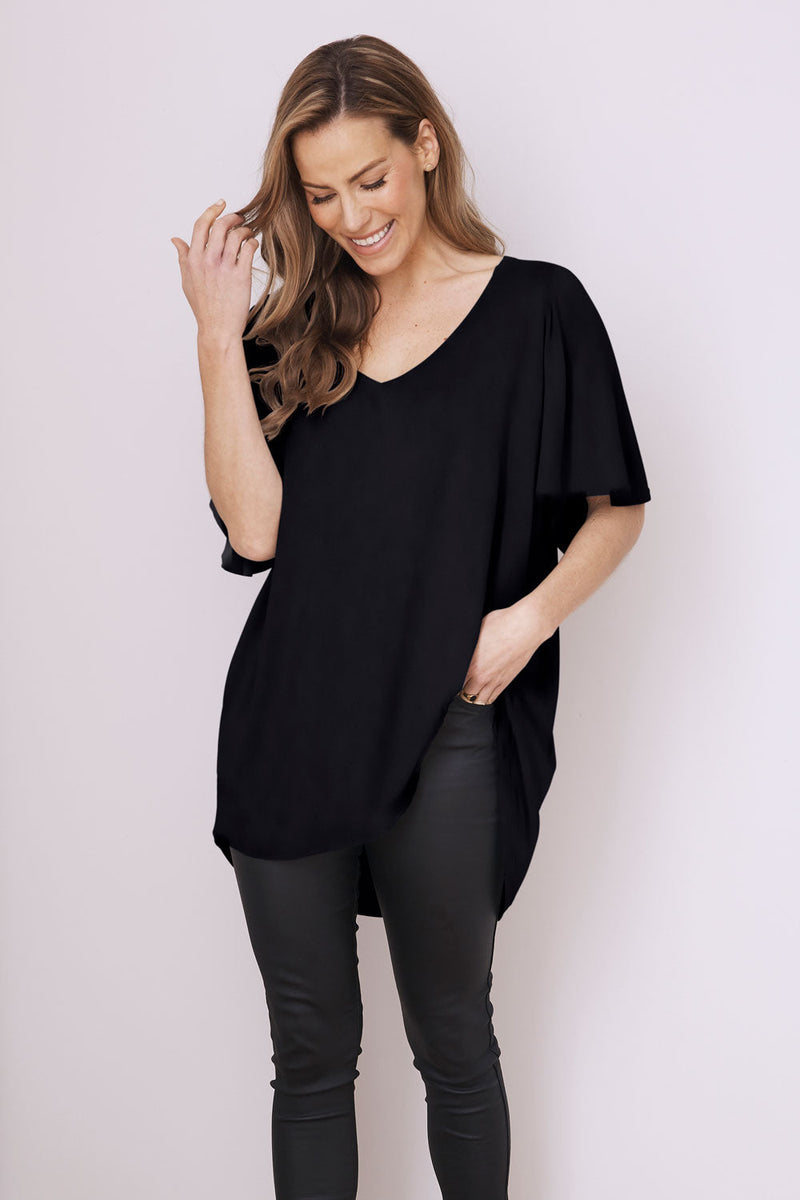 Essential Short Sleeve Top Spring/Summer Black