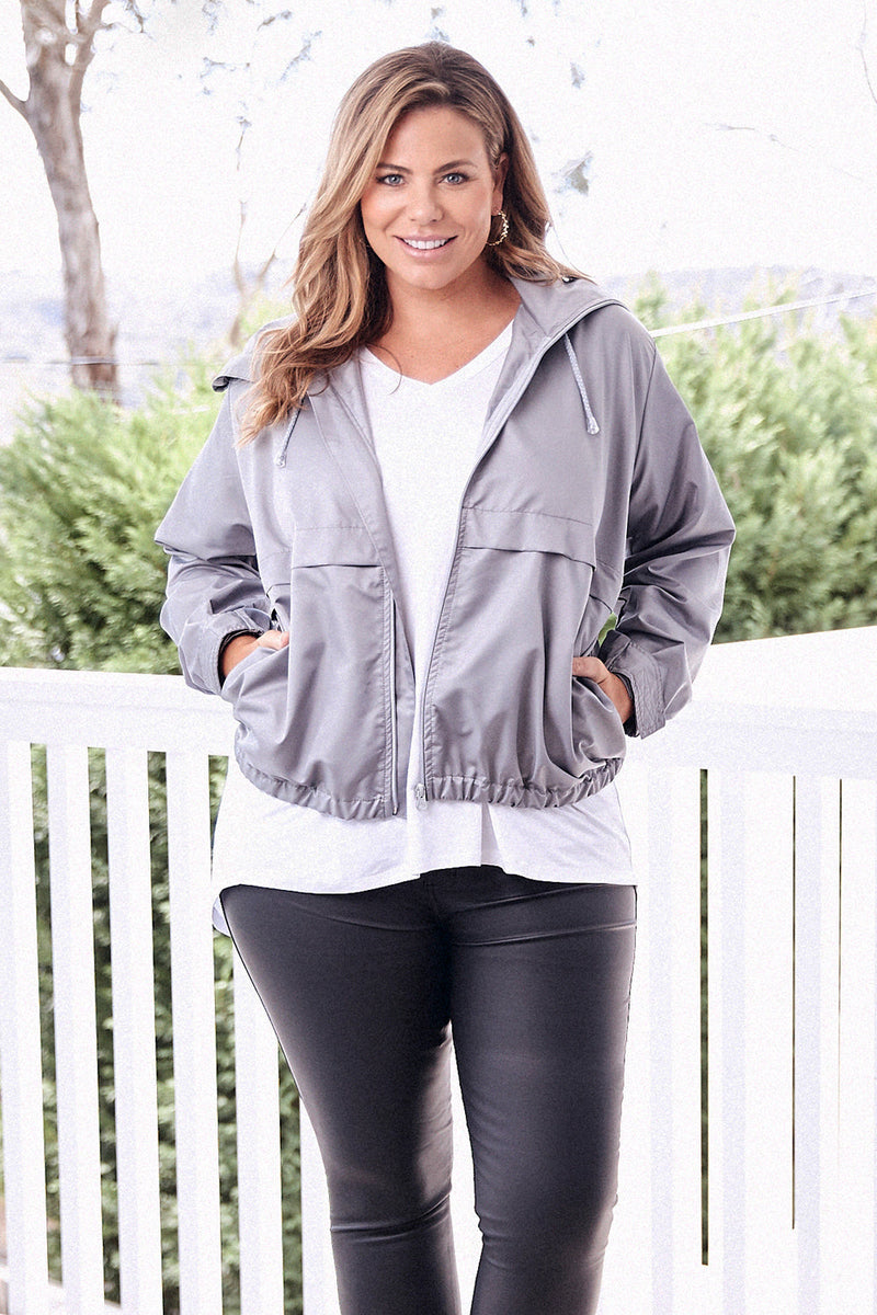 Hoodie Jacket Light Grey