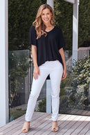 Amber Jeans White