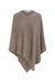 Cashmere and Wool Poncho Mocha
