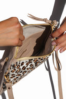 Carolina Cowhide Clutch Mini Leopard Cowhide