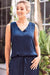 Chloe Sleeveless Top Navy