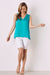Chloe Sleeveless Top Teal