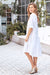 Daniela Pure Linen Dress In White
