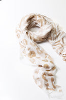 Elsie Relaxed Scarf in Tan Print