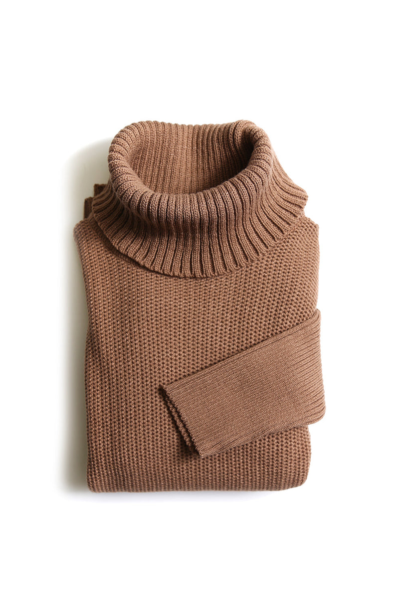 Everly Roll Neck Jumper Almond