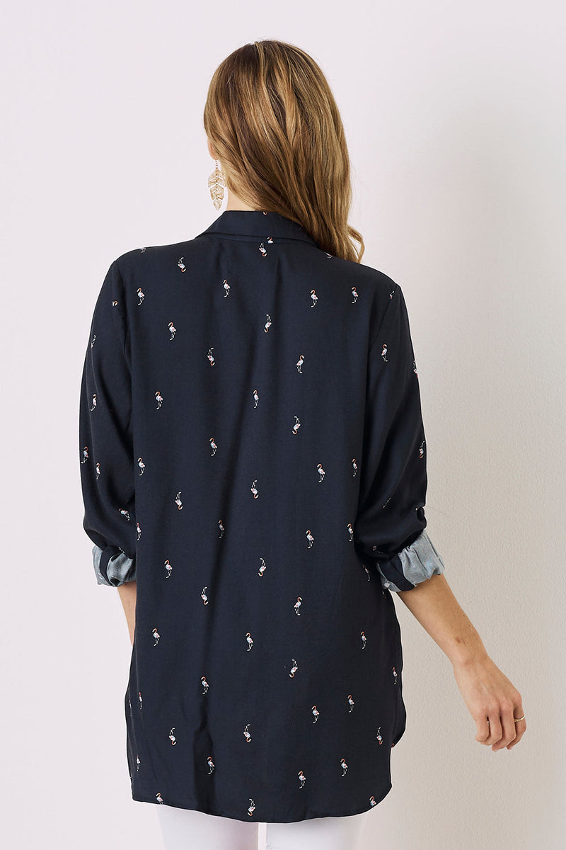 Flamingo Shirt Navy