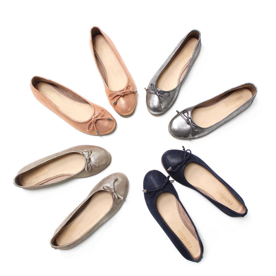 Ballet Flats Rose Gold Metallic