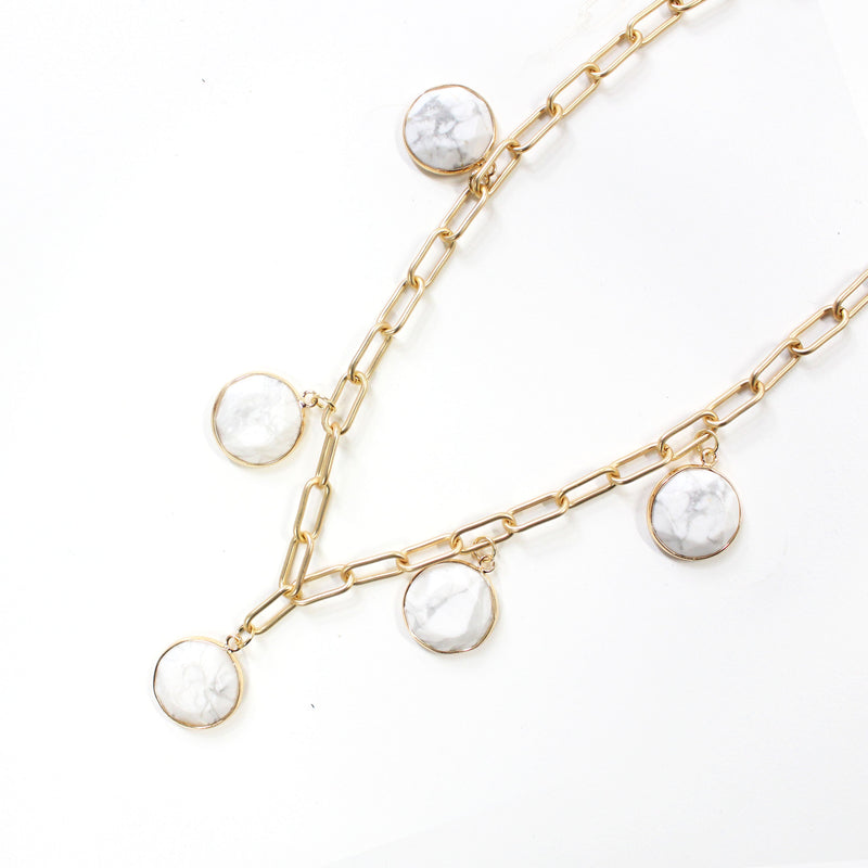 Isla Necklace Marble White