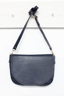 Mischa Leather Handbag Navy