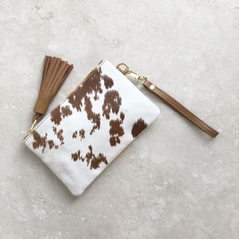 Mini Masai Mara Tan and White Cowhide