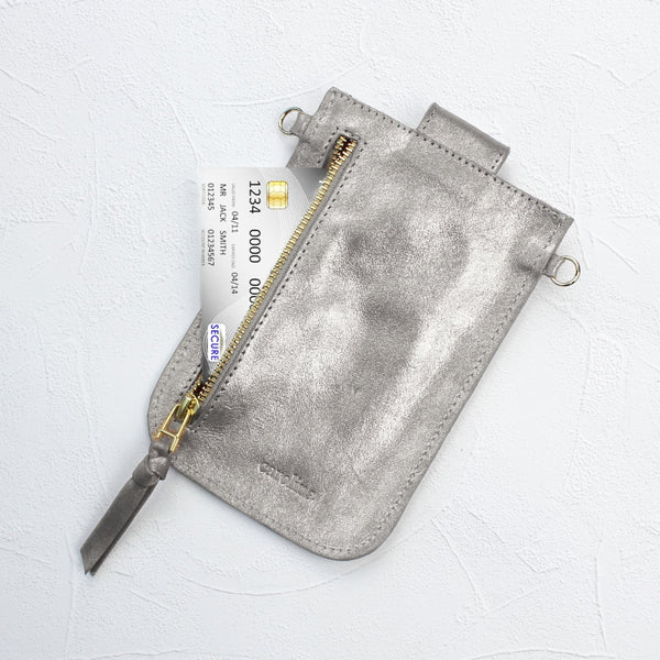Mobile Phone Holder Silver Metallic