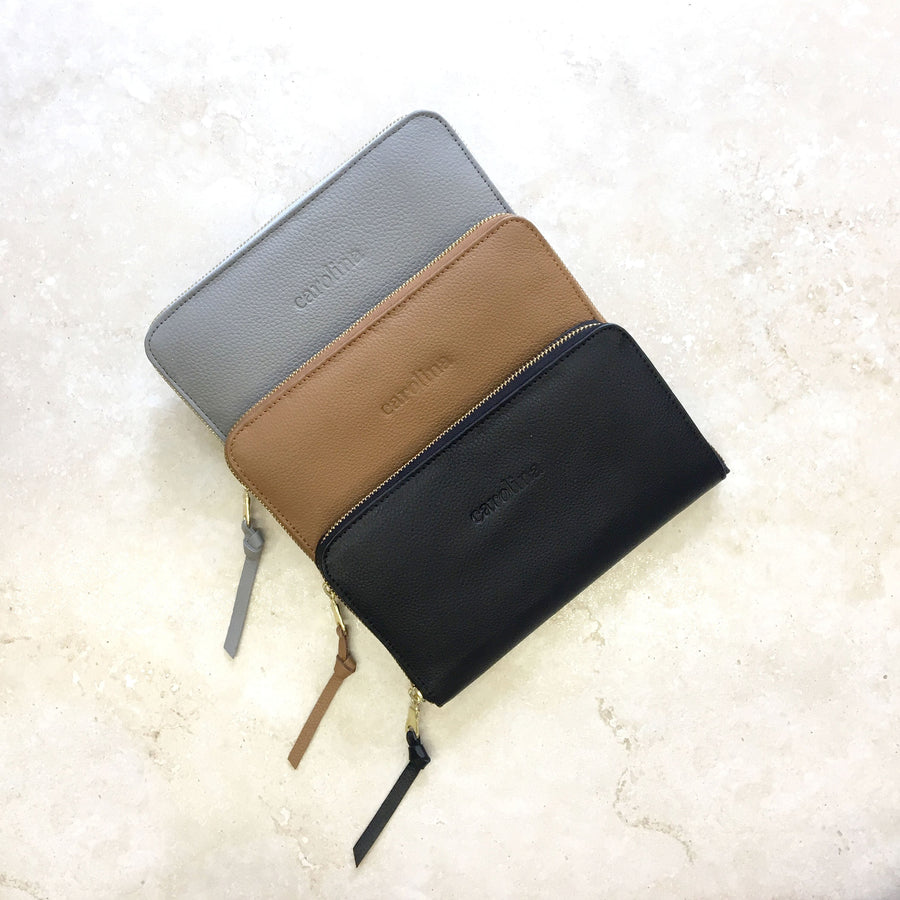 Zipper Wallet Black SL