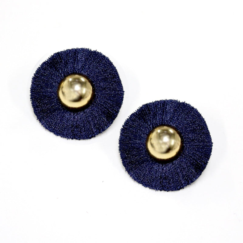 Melanie Earrings Navy
