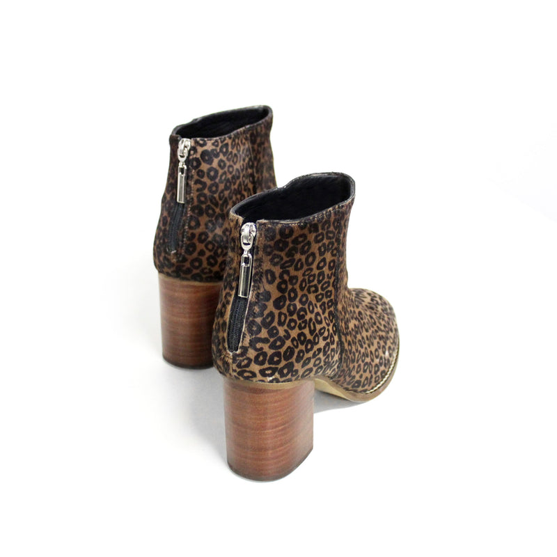 Leather Mini Leopard Boots