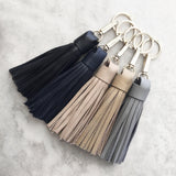Tassel Keyring in Grey