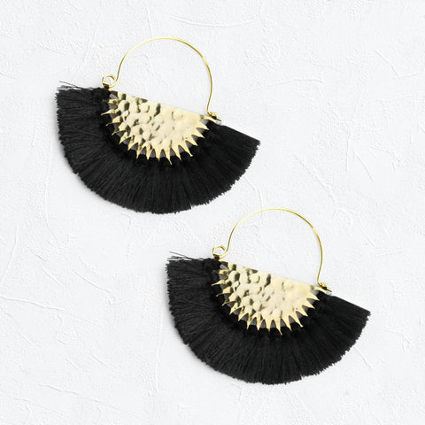 Luna Earrings in Black