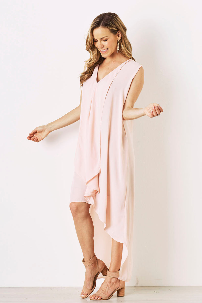 Mila Dress in Blush