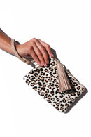 Mini Masai Mara Clutch Mini Leopard Cowhide