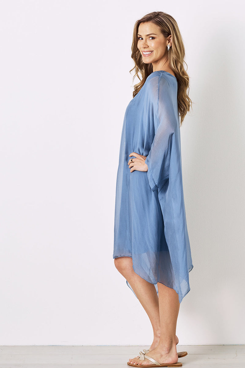 Mirabella Tunic Dress Steel Blue