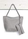 Nora Leather Handbag Grey