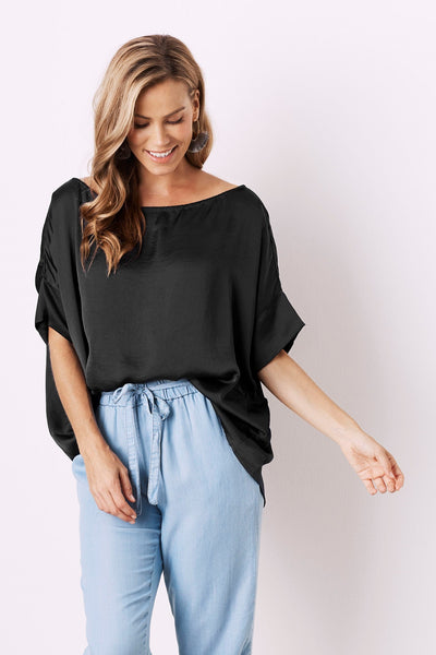 Bianca Short Sleeve Top Black